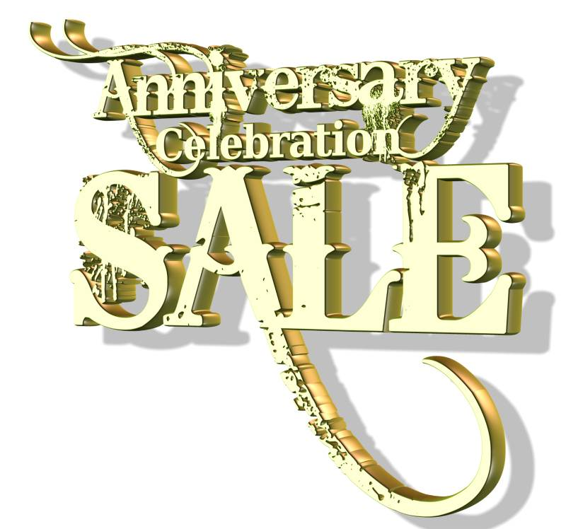 One year anniversary sale